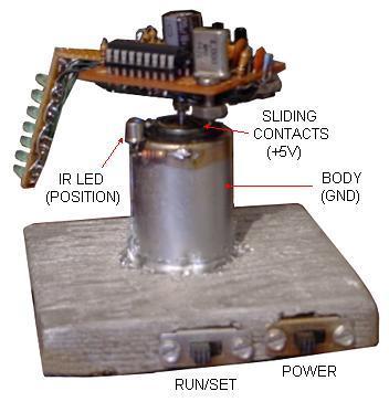 Persistence of Vision Propeller Clock
