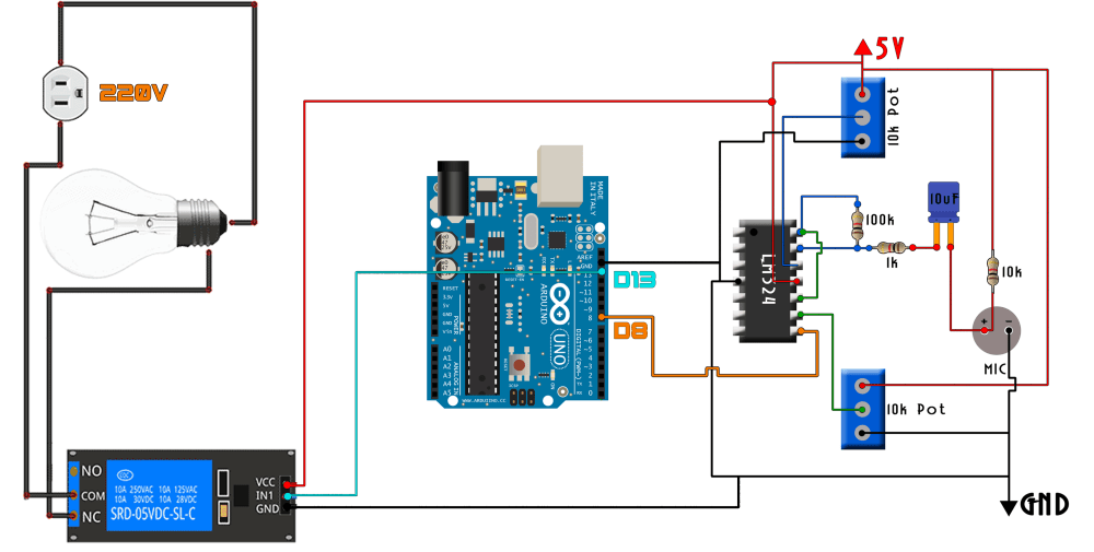 medium resolution of whistle relay switch arduino