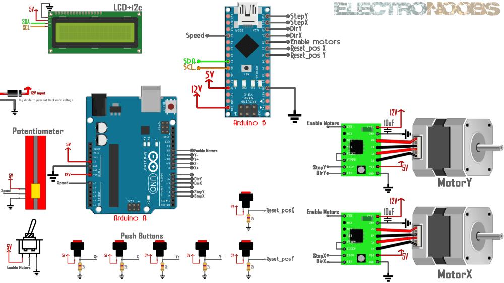 medium resolution of manual cnc arduino lcd control diagram nintendo 64 controller cnc circuit board schematic diagram