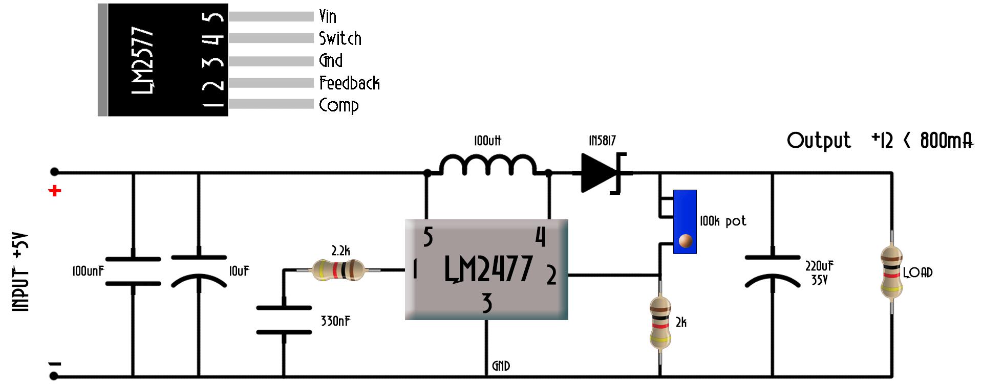 step up converter circuit