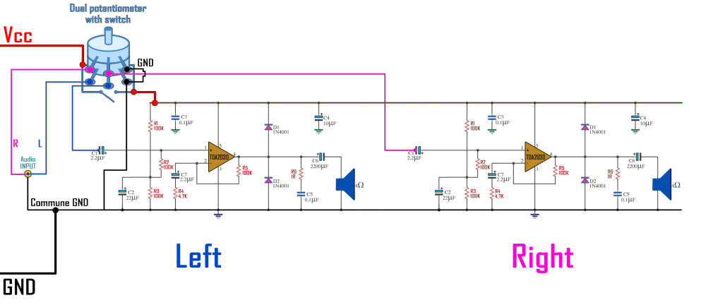 medium resolution of tda2030a schematic homemade speaker