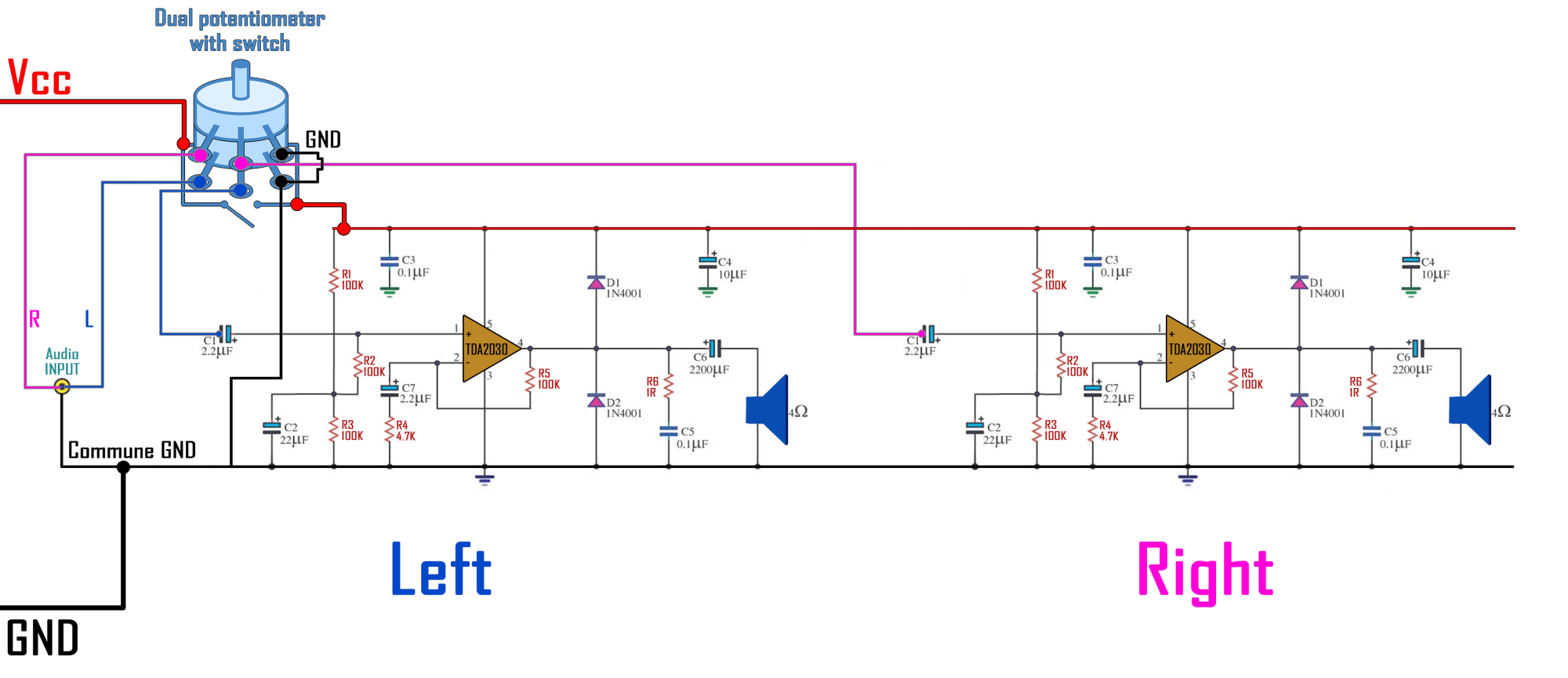 hight resolution of tda2030a schematic homemade speaker