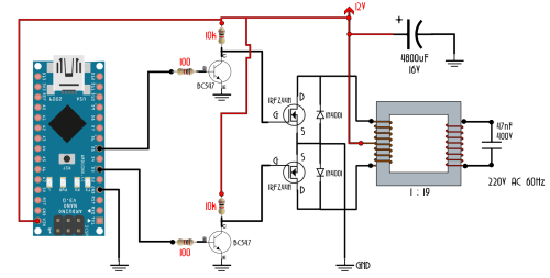 small resolution of homemade inverter diy arduino 555 timer circuit ac to dc mos fet inverter circuit on quantum computer circuit diagram