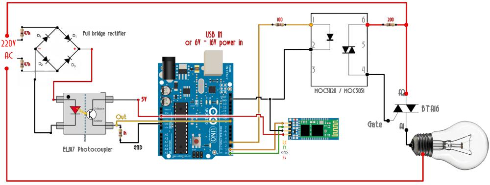 medium resolution of ac triac arduino bluetooth