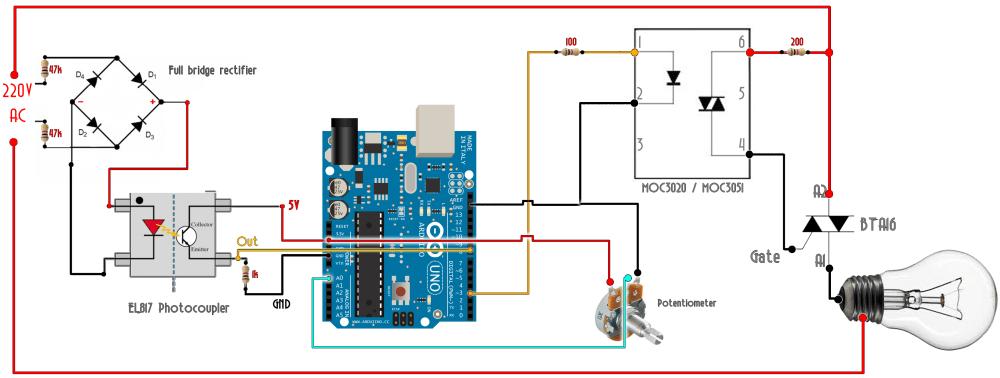 medium resolution of ac triac dimmer arduino schematic