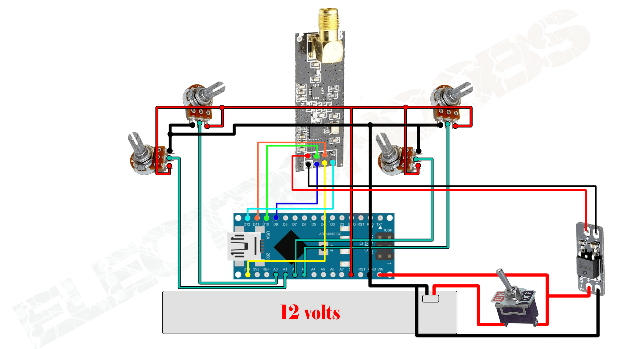 hight resolution of potentiometer for rc