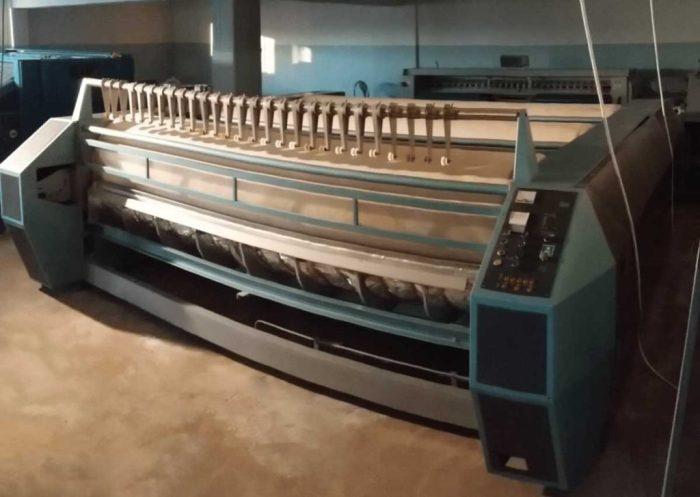 %Professional cylinder ironer Dreher 380 ∅ 80 cm ↔ 3 x 3,3 m