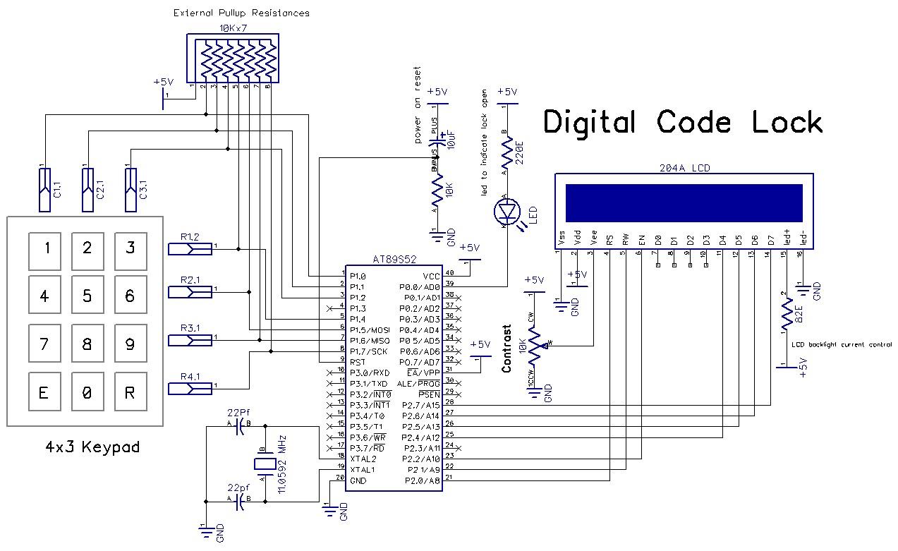 electronic number lock circuit diagram dodge radio wiring diagrams digital puter systems free engine image