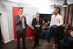 (de la stanga la dreapta) Mihai Galis, Director Vodafone Stores, Consumer Business Unit, Vodafone Romania- Bogdan Lerescu, Head of Terminals, Consumer Business Unit, Vodafone Romania- Cabral Ibacka