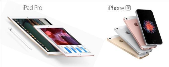 iPhone SE si noul iPad Pro