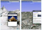 Google Earth para iPad