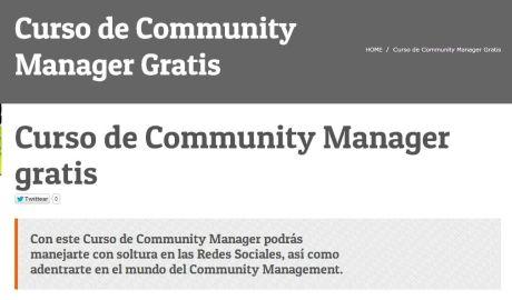 Curso de Community Manager gratis