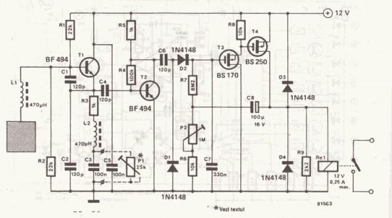 schematic of the door sensor circuit