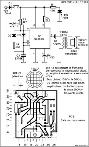 Ultrasonic Dog Repeller Circuit