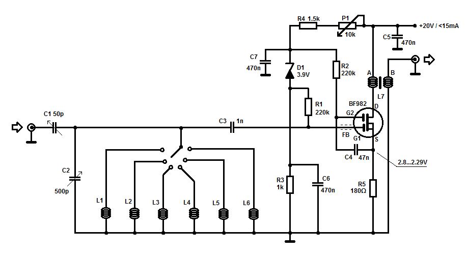 SW Receiver Preselector Circuit