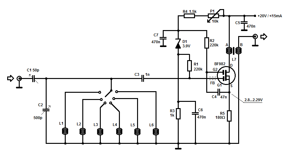 preselector for sw receivers