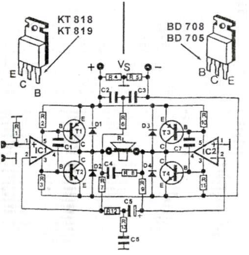 amplifier schematics transistor