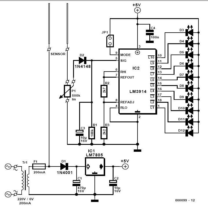 Soil Moisture Tester Circuit