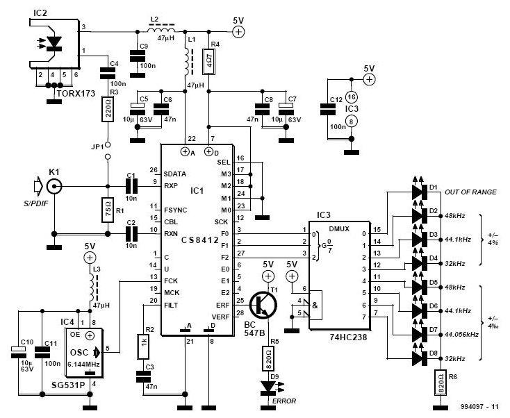 audio power indicator circuit