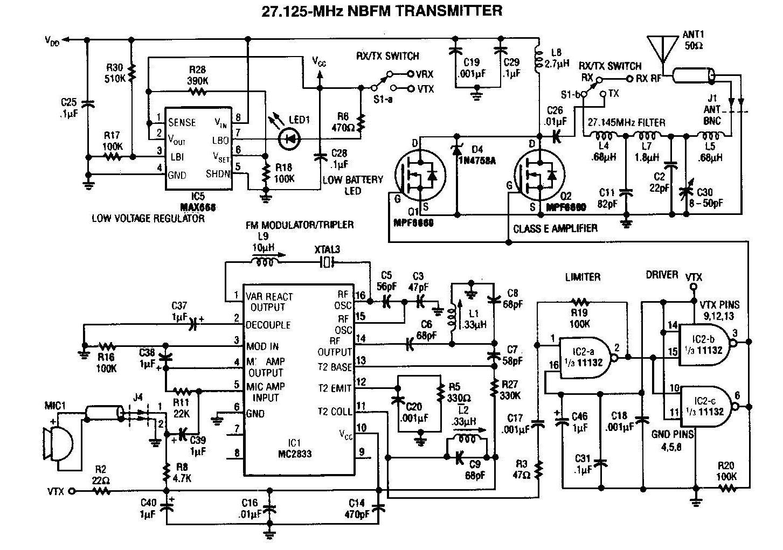 NBFM 27MHz Transmitter Circuit
