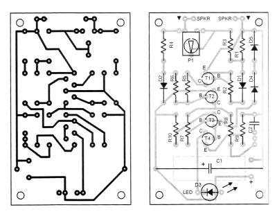 Loudspeaker Peak Indicator Circuit