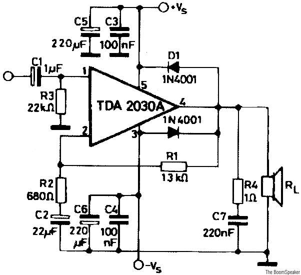 audio amplifier circuit diagram with layout double pole single throw switch wiring tda2030 circuits 20w pcb