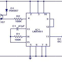 Solar Power Schematic Diagram Trailer Wiring Uk Touch Controlled Musical Door Bell