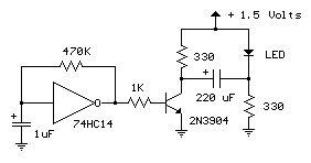 1.5V LED Flasher Circuits