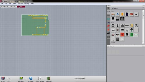 small resolution of fritzing software pcb view