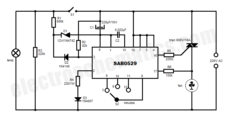 Automatic Bathroom Fan Controller Circuit