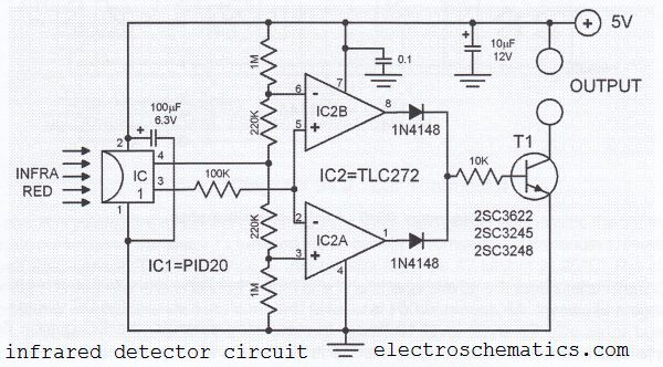 Infrared Detector Circuit with PID20
