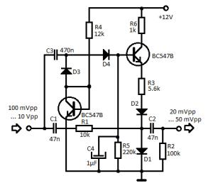 Mini Audio Compressor Schematic