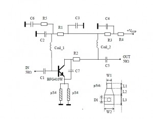 900 MHz Radio Amplifier Circuit