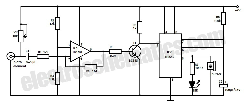 Earthquake Detector Circuit