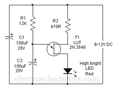 Mock Flasher LED Circuit