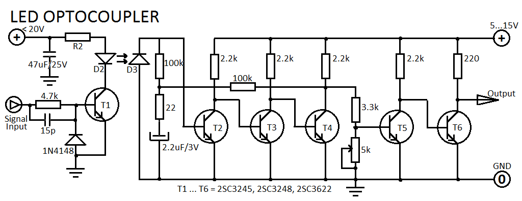 circuit diagram optocoupler with two insulated circuits