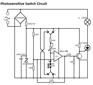 Light Sensitive Switch Circuit