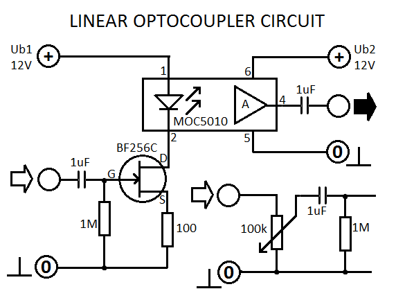 Linear Optocoupler Circuit
