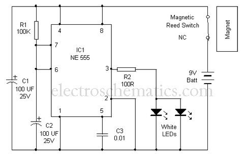 Cupboard Lights Switch Circuit