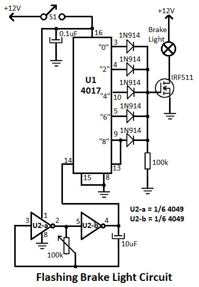 brake light schematic diagram