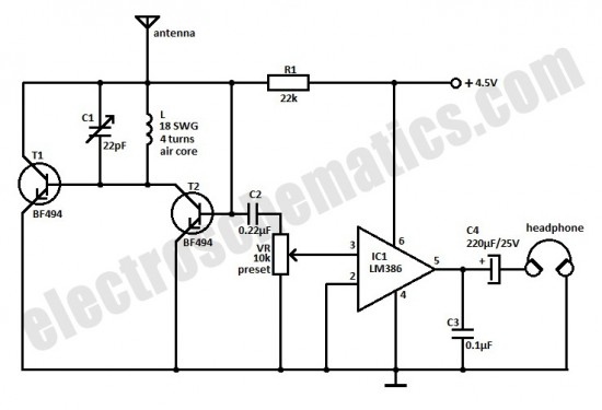 small fm radio circuit