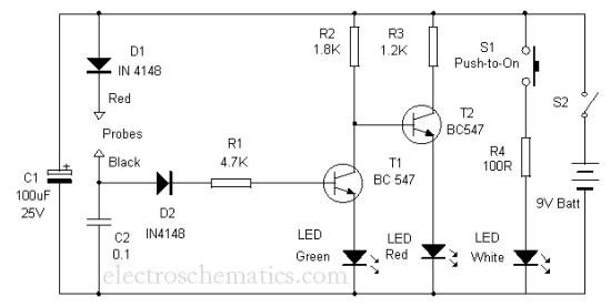 LED Component Tester with Torch
