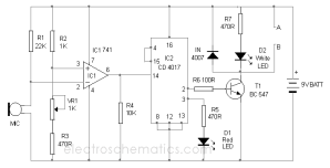 Sensitive Clap Switch Circuit