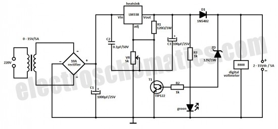 fast charger with auto cut off circuit schematic