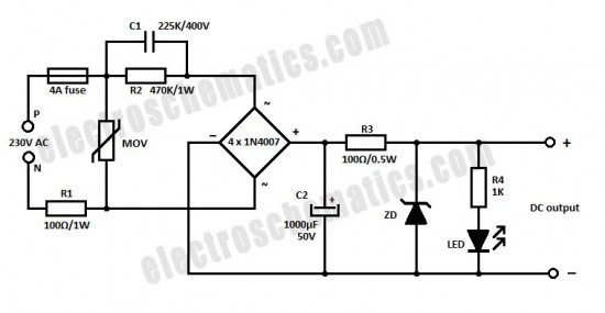 Teo O Μάστορας: Capacitive Power Supply Circuit
