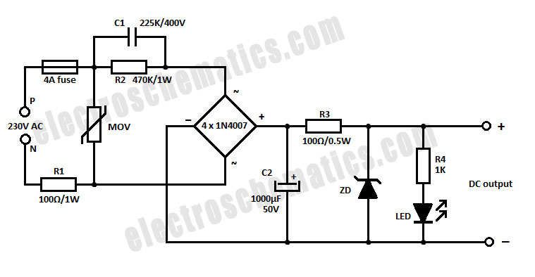 Capacitive Power Supply Circuit