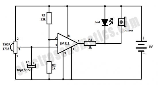 ir sensor circuit ir beam breaker circuit