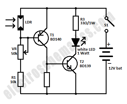 Mini Emergency LED Light Circuit