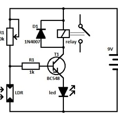 Led Wiring Diagrams Diagram For Solar Panel To Battery Ldr Circuits Projects Light Operated Relay Circuit