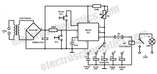 how to build time delay relay circuit